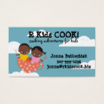 African American kids teacup cooking class Business Card