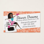 African American retro housewife cooking baking Business Card
