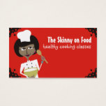 african american woman chef baking biz cards