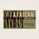 African Imports I - Afrocentric African American Business Card