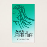 Afrocentric Braids Hair Stylist - aqua Business Card