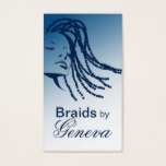 Afrocentric Braids Hair Stylist - blue Business Card