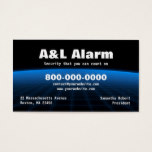 Alarm Security Tech Business Card