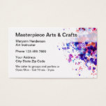 Arts And Crafts Classes Business Card