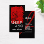Bold Grunge Makeup Artist Business Card
