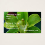 Brilliant Green Orchid Business Card