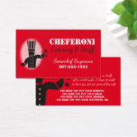 Custom color chef 5 stars catering business card