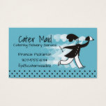 Custom color run chef food delivery meal catering business card