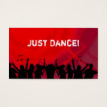 Dj Business Card Music Red Retro Dance 2