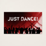 Dj Business Card Music Ruby Red Retro Dance