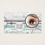 Fashionable Bubbles Eyelash Extensions Card
