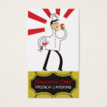 French chef food wine cheese catering card
