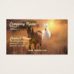 Galloping Wild Horses Business Card