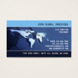 Global Internation Map Business Card