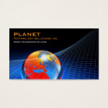Globe Grid Business Card