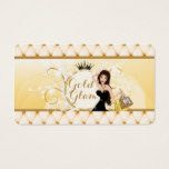 Gold Glam Business Card