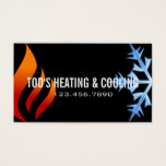 Heating & Cooling , Air Conditioning HVAC Business Card
