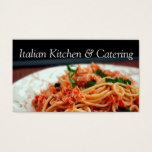 Italian Pasta Catering Party Service Occasions Business Card