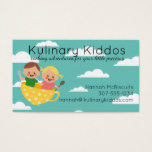 Kids children cooking classes flying teacup business card