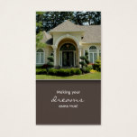 Luxury Home Entrance Real Estate Business Card 2
