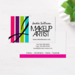 Makeup Artist Monogram Business Card