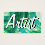 Modern Abstract Artist Business Cards