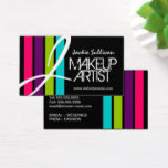 Modern Color Makeup Artist Monogram Business Card