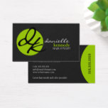 Modern Monogram and Elegant Stylist Business Card