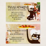 Monkey chef pizza Italian catering business card