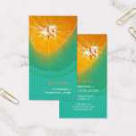 Orange, fresh produce business cards
