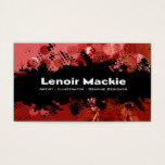 Paint Splatter custom designer business card