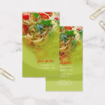 Pesto Pasta   restaurant business cards