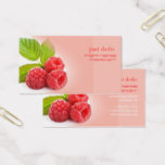 Prefectly fresh raspberry business card