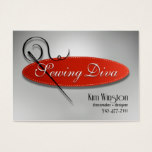"""Sewing Diva"" - Seamstress, Dressmaker, Designer Business Card"