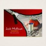 """Zipper"" - Sewing, Dressmaker, Seamstress, Tailor Business Card"