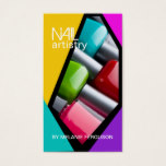 RETRO NAIL ARTIST BUSINESS CARD