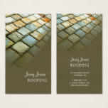 Roofing, photo slate roof business card