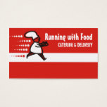 running chef food delivery catering business cards
