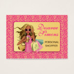 Savvy Shopper Pink Business Card