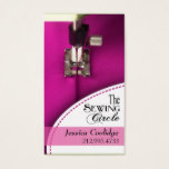 Sewing: Dressmaker, Tailor, Designer, Seamstress Business Card