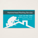 Simple Roofing Construction Business Card