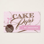 Stylish Cake Pop Business Card