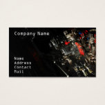 Stylish Car engine fragment in black Business Card