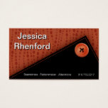 Trendy Stylish Button Up Business Card template