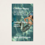 Underwater Mermaid Business Card