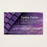 Web Design-1 Business Card template (lilac)
