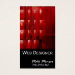 Web Design-2 Business Card template (red)