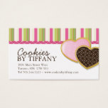 Whimsical Heart Cookies Business Cards