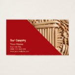Wicker basket closeup business card