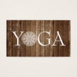 YOGA Instructor - Vintage Wood Business Card